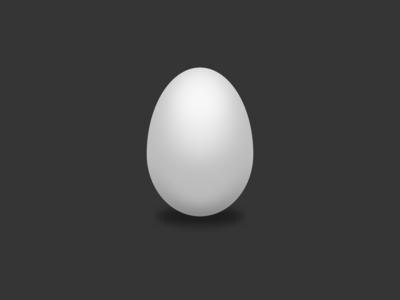 Egg shading new egg svg vector