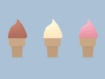 Minimal Ice Cream vector svg inkscape sweet food minimal cream ice icecream