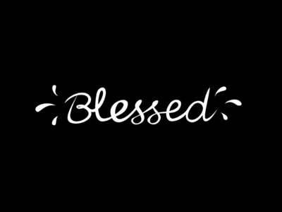 Blessed text typography blessed
