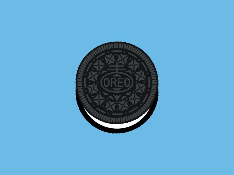 Oreo cookie cartoon illustration minimal inkscape vector svg cookie oreo
