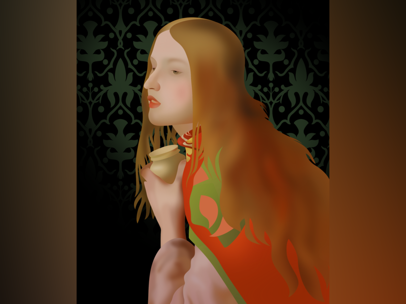 Mary Magdalene painting illustration inkscape vector svg