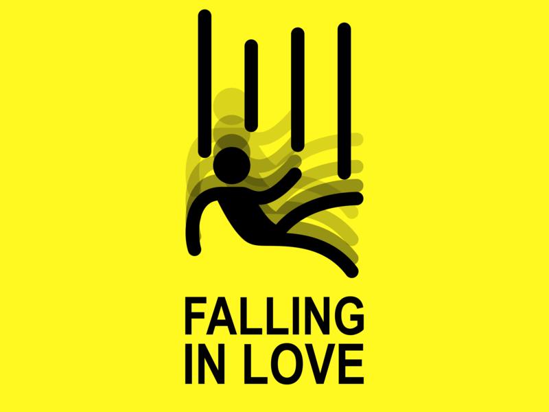 Falling In Love ui logo illustration vector svg