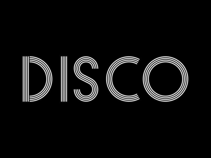 Disco illustration svg minimal font design fontdesign font typogaphy vector