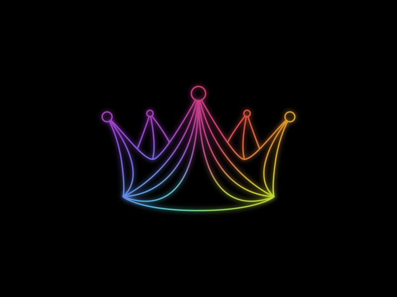 Color Crown mesh gradient colors color gradient color gradient illustration minimal inkscape svg vector