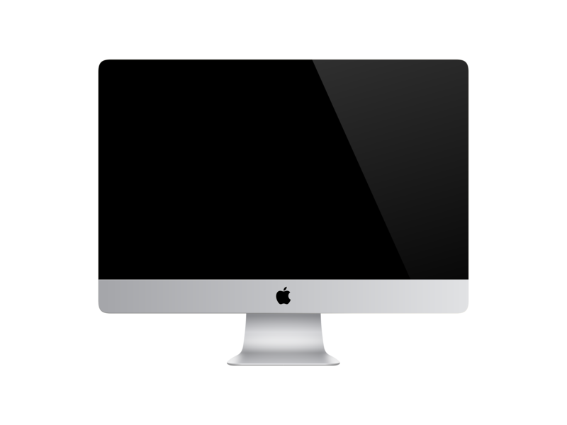 iMac Vector creative commons realism svg vector illustration inkscape