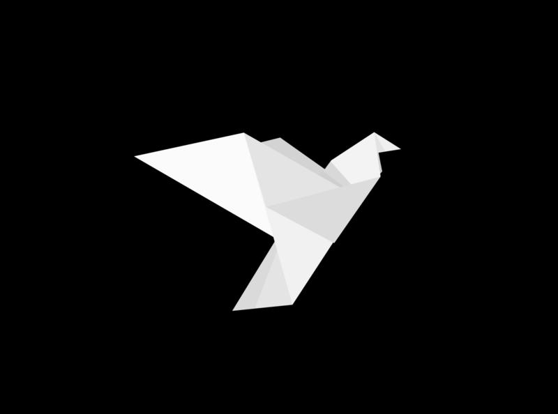 Origami Bird vector svg paper minimalistic minimal inkscape origami folding cartoon