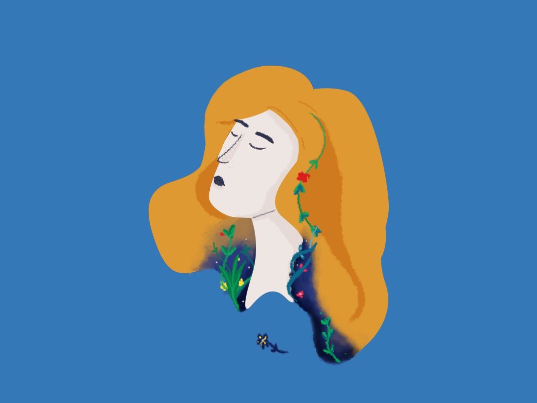 Flower Girl girl climate flower color digital draw girl character illustration digital illustration