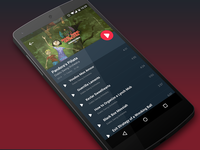 Music Player   Android L Concept