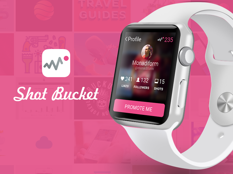 Shotbucket For Apple Watch profile user mobile uiux invite apple watch dribbble app