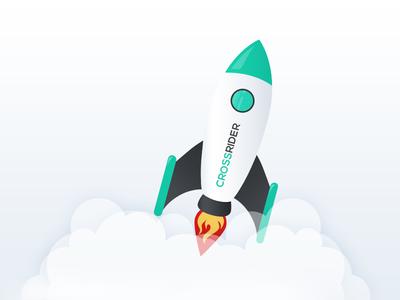 Rocket up start fly image illustration rocket