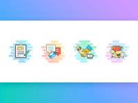 Colorful Icons for Landing