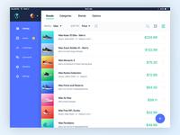 Merchant Dashboard - Products List