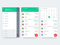 Pandamoney   overview  calendar and sidebar attachment