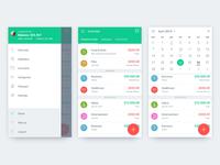 PandaMoney - Overview, Calendar And Sidebar