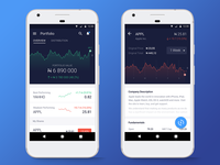 Stocks & Shares app concept