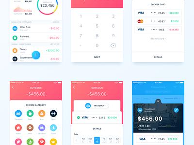 Finance App - New Transaction card transaction apple money simple clean ux ui ios mobile finance