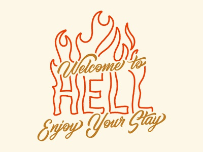 Welcome To Hell script type design hand lettering hand type hand drawn type typography lettering