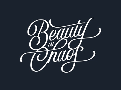 Beauty in Chaos logo typography hand lettering hand drawn type type chaos beauty lettering