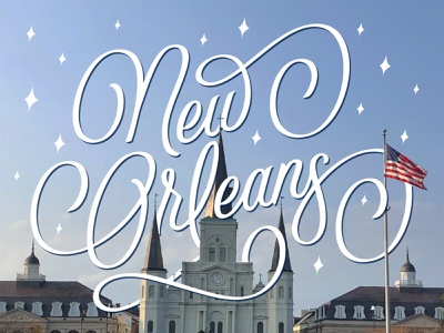 New Orleans type hand lettering city hand type hand drawn type typography lettering new orleans travel