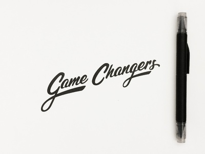 Game Changers type typography lettering jenna hand drawn type drawn type hand lettering