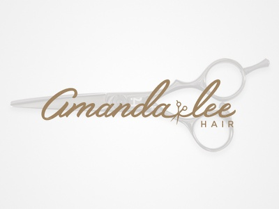 Amanda Lee Hair Logo identity logo type typography lettering logotype salon hair branding hand drawn type custom lettering jenna bresnahan