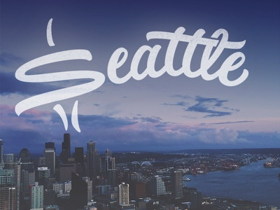 Seattle Typography jenna bresnahan custom lettering hand type hand drawn type photography skyline seattle lettering sketch typography type