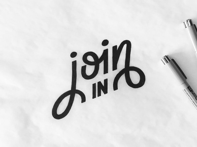 Join In invite acitivity sports jenna bresnahan sketch hand type join in join typography hand drawn type lettering type
