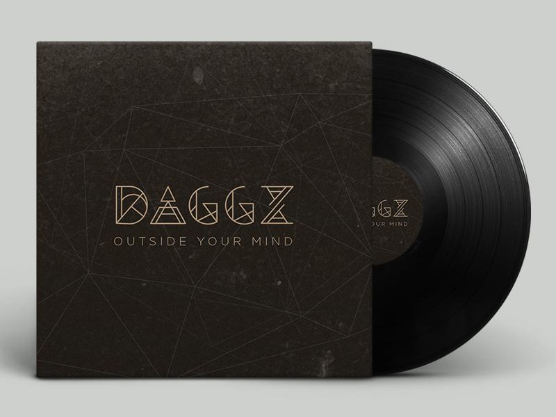 Daggz Logo and Vinyl Cover logotype mark identity logo album vinyl geometric dj music