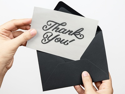 Thank You Card black and white greatful thankful jenna bresnahan sketch drawing hand type thank you typography hand drawn type lettering type