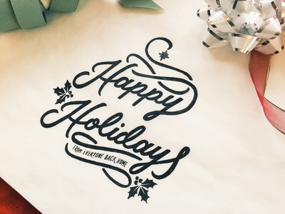 Happy Holidays Sketch jenna bresnahan typography christmas happy holidays holidays drawing sketch hand drawn type lettering type