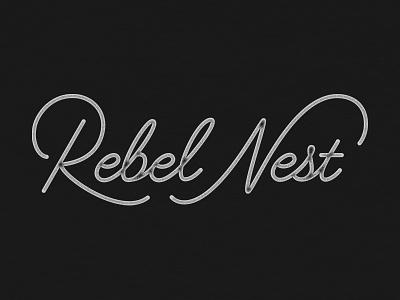 Rebel Nest Logo logotype logomark mark nest rebel branding jenna bresnahan hand type logo lettering typography type
