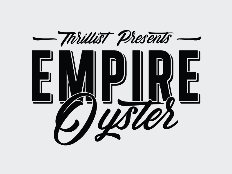 Empire Oyster hand type event logo food script clothing logotype logo lettering hand drawn type typography type