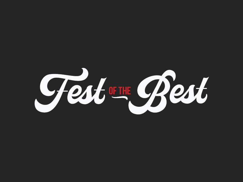 Fest of the Best event logo festival food type lettering handdrawntype branding logomark logo typography