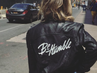Be Humble Jacket vintage leather jacket humble handtype apparel clothing typography lettering type