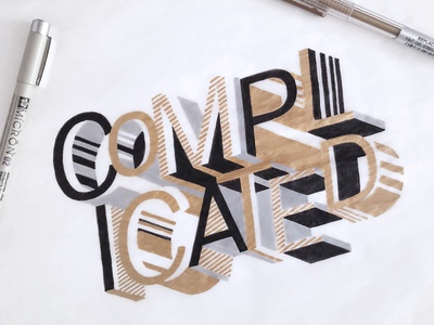 Complicated Drawing Jennabresnahan Dribbble detail complicated gold abstract custom lettering drawing hand type hand drawn type lettering type typography