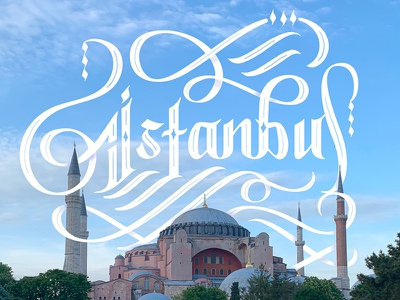 Istanbul, Turkey Lettering hand type hand lettering destination calligraphy script explore turkey istanbul travel typography type lettering