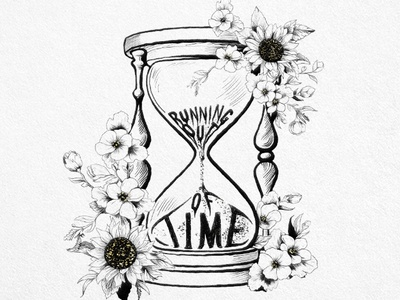 Running Out of Time ipad procreate custom lettering floral nature earth drawing hand drawn type typography time environmental illustraion flowers hand lettering lettering