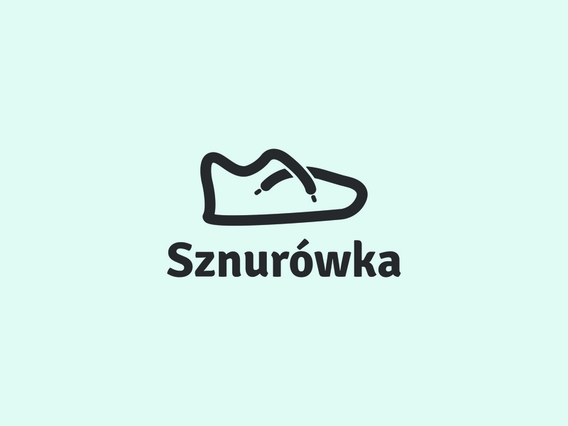 Sznurówka - shoes store web design graphic icon trend modern style simple smart character shape identity line lined lace shoes best good perfect color freelance portfolio artist gym footwear laces sole cleat brand branding logo logotype