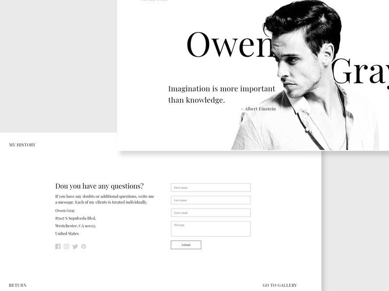 Owen Gray PageCloud Demo Website craftedwithpagecloud
