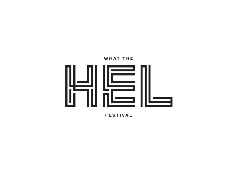 WHAT THE HEL FESTIVAL identity visual sea music hel festival symbol mark branding brand logo