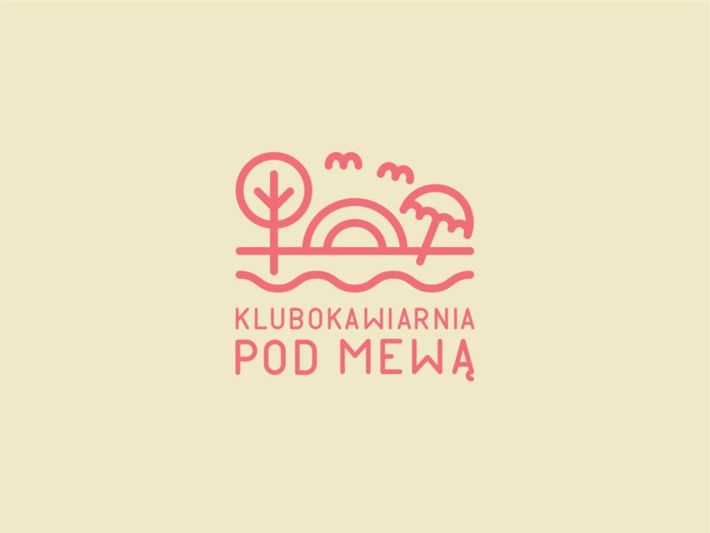 Klubokawiarnia Pod Mewą drink holiday spring sun sunny beach cafe club visual identity brand symbol mark branding logo