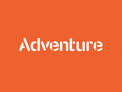 Adventure Logo branding logo stencil typography rounded orange creative film company art direction
