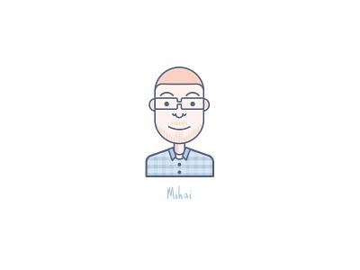 Meet Mihai portrait grapefruit caricature avatars line team