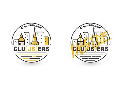 Logo Clujsers line city js javascript branding logodesign logo