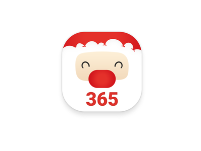 Tillxmas app - coming soon red countdown tillxmas christmas santa ios icon