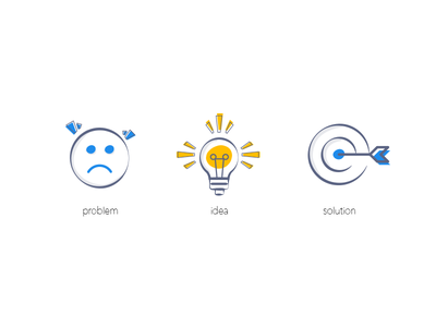 Quick icons for a small project icon design solution idea problem line icons