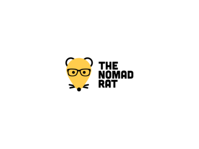 The Nomad Rat - Logo branding design logo travel nickname rat nodad