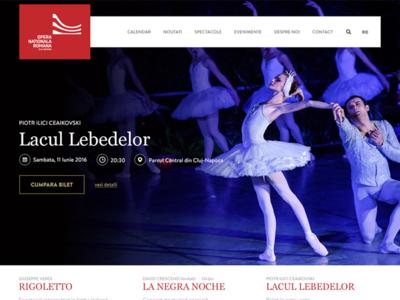 Early iteration of an Opera website image ui design swan opera iteration web webdesign