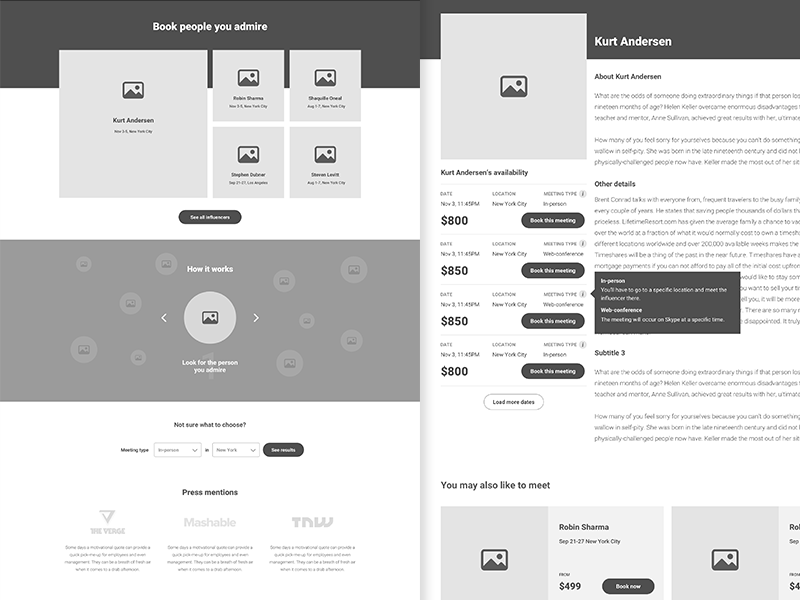 high fidelity wireframes for a project we re working on by ciprian