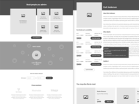High fidelity wireframes for a project we're working on